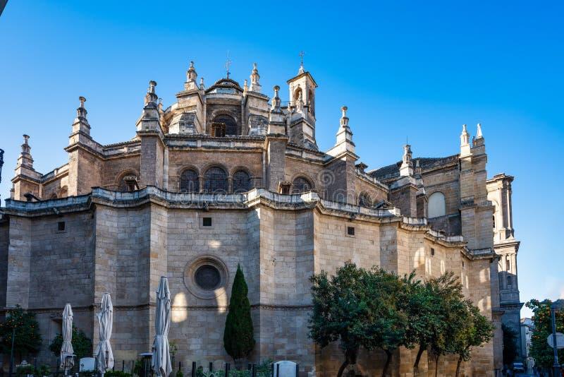 Catedral da encarna??o na cidade de Granada A Andaluzia, Espanha fotografia de stock royalty free