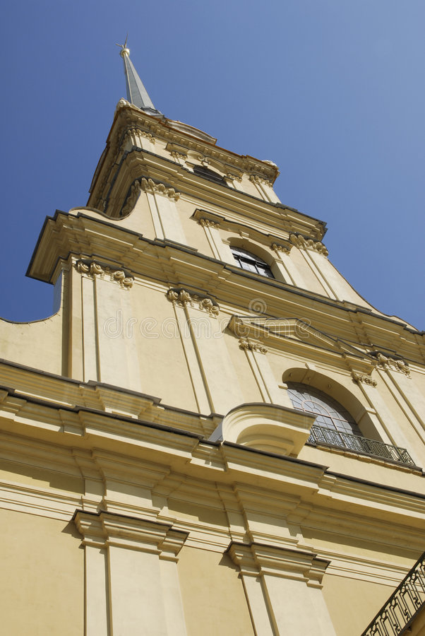 Catedral da fortaleza de Petropavlovsk imagens de stock royalty free