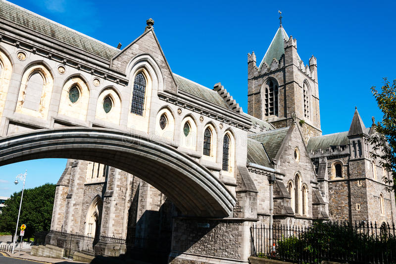 Catedral da igreja de Cristo em Dublin, Irlanda fotos de stock