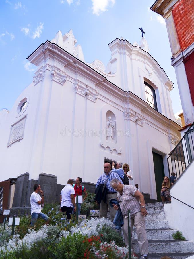 A catedral da ilha de Capri fotos de stock royalty free