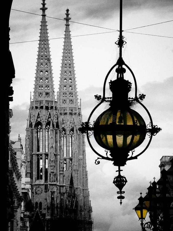 Catedral da lanterna e do Stephen em Viena, Áustria imagens de stock royalty free