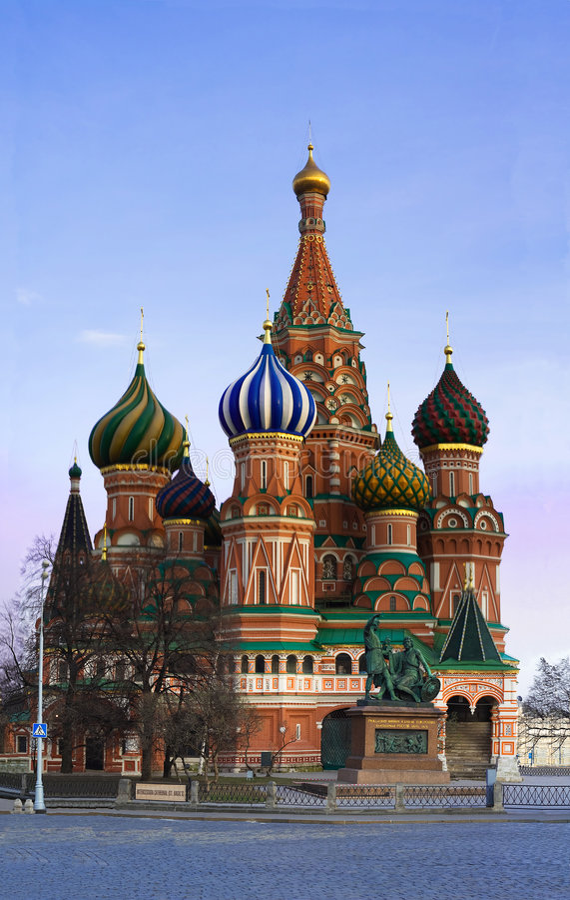 Catedral da manjericão de Moscovo foto de stock royalty free