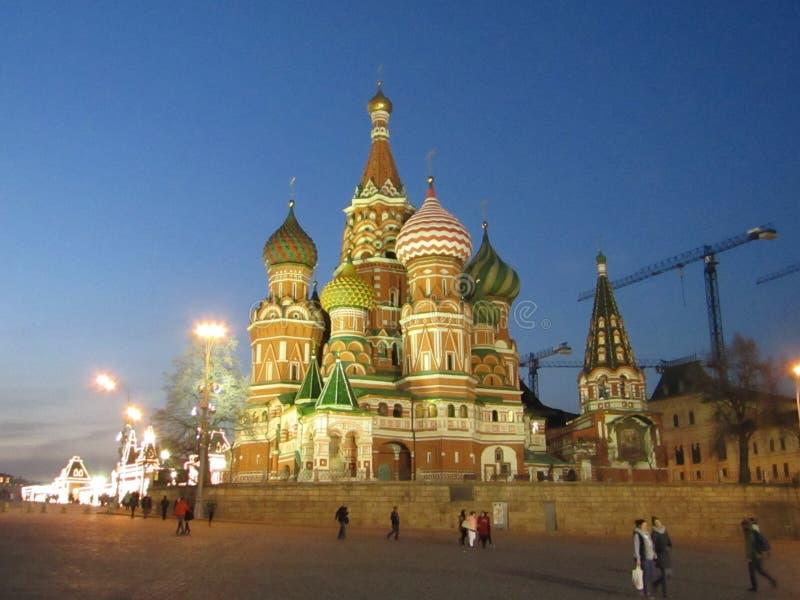 Catedral da manjericão do abençoado no quadrado vermelho em Moscou fotografia de stock royalty free