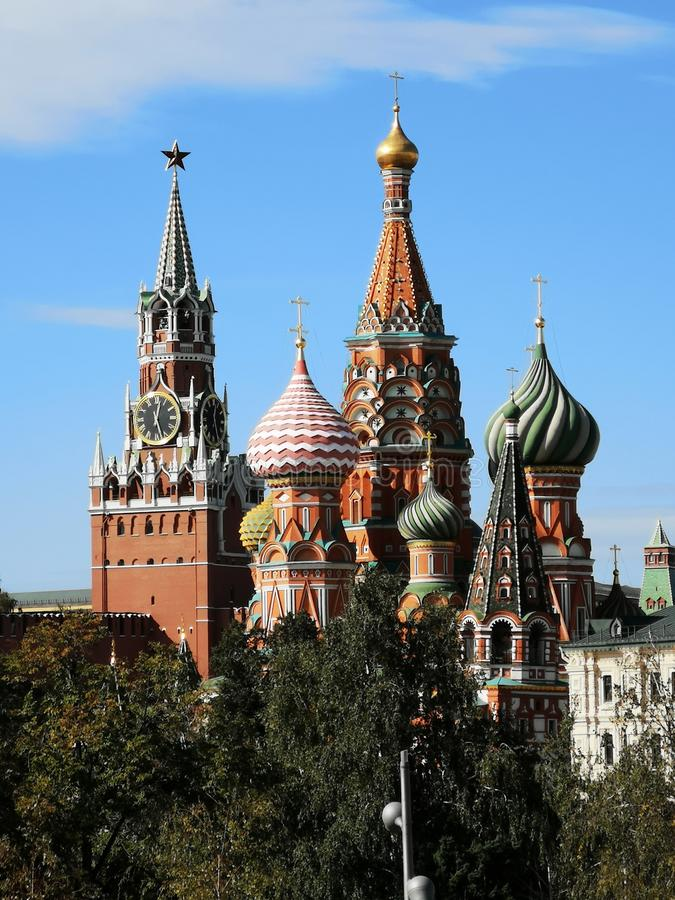 A catedral da manjericão do St, Federação Russa de Moscou imagens de stock royalty free