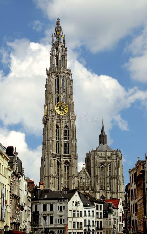 Catedral da matriz do deus. Antuérpia. Bélgica imagem de stock royalty free