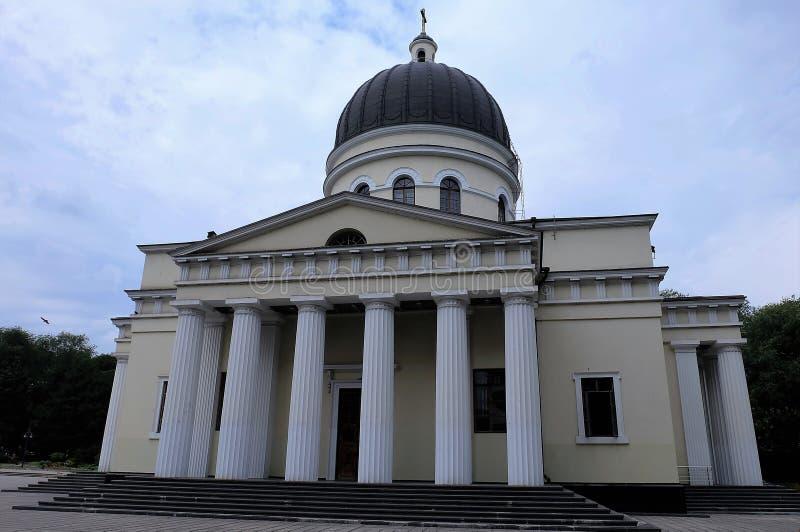 Catedral da natividade de Christs em Chisinau, Moldova imagem de stock