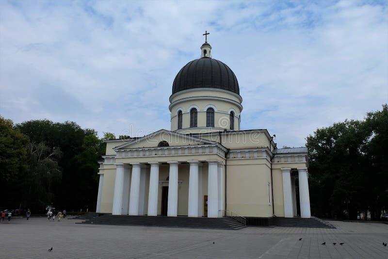 Catedral da natividade de Christs em Chisinau, Moldova imagens de stock royalty free