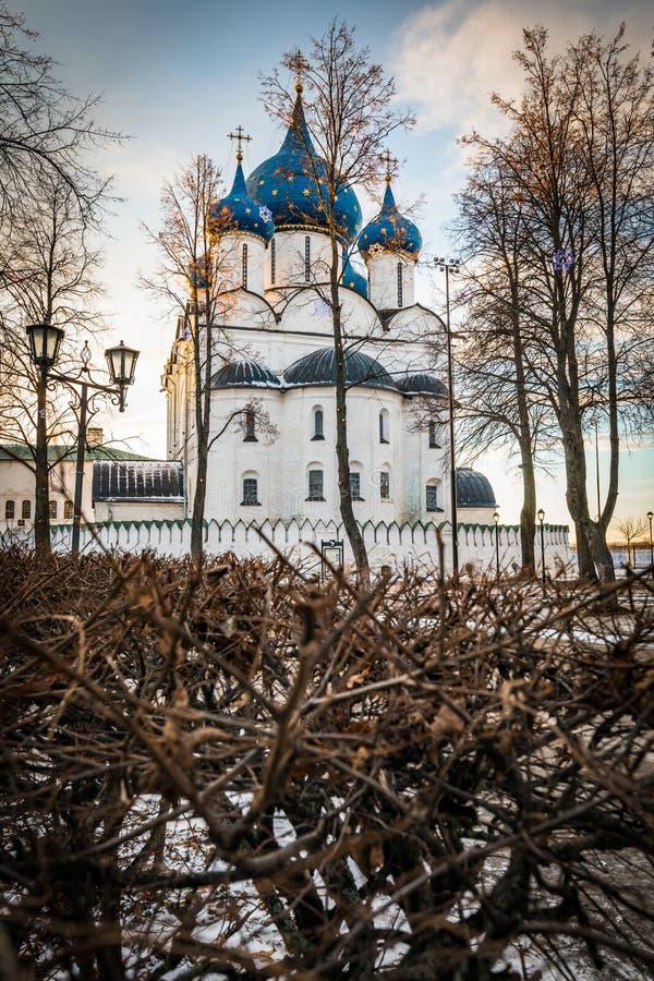 Catedral da natividade do Virgin abençoado Suzdal imagens de stock