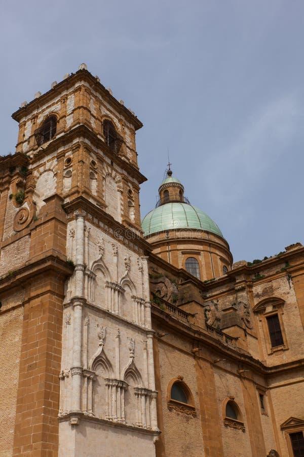 Catedral da pra?a Armerina imagem de stock