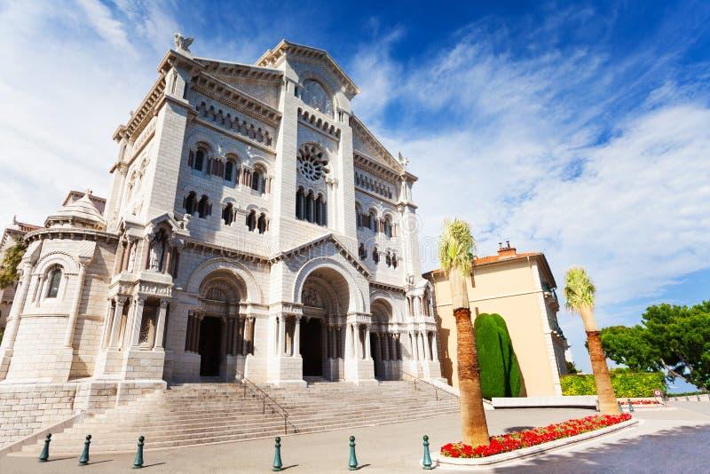 Catedral da São Nicolau em Mônaco fotos de stock