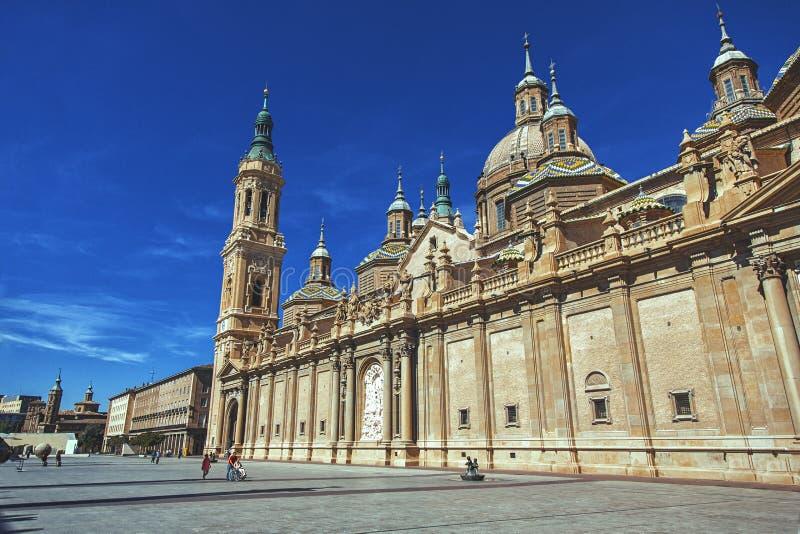 Catedral da senhora Pilar em Zaragoza imagens de stock royalty free