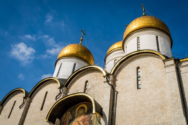A catedral da suposição em Moscou fotos de stock royalty free