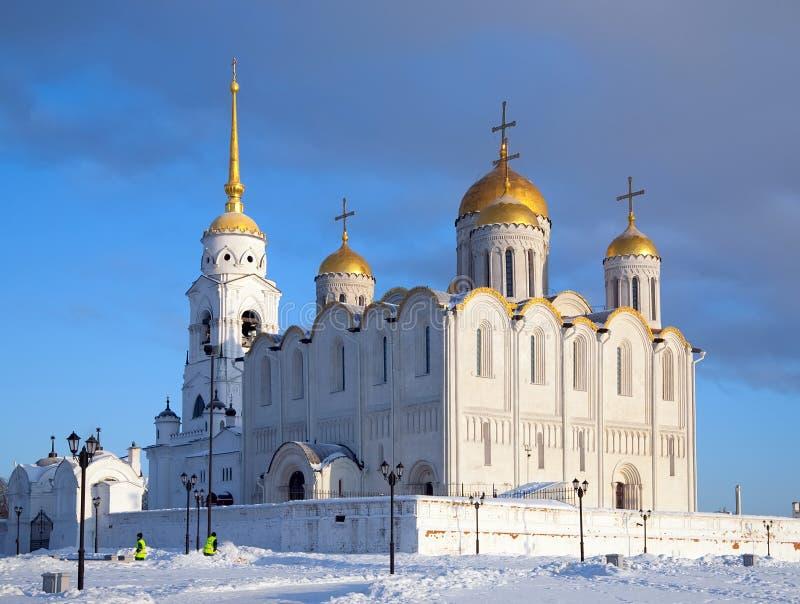 Catedral da suposição em Vladimir fotos de stock royalty free