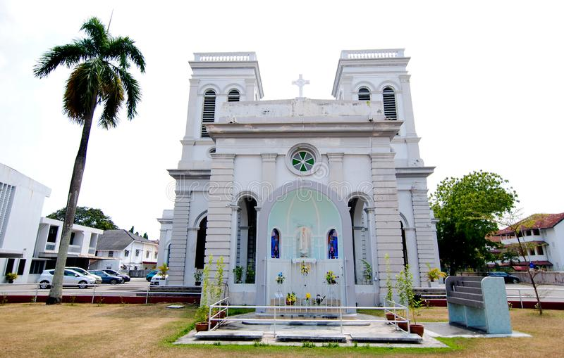 Catedral da suposição Penang fotografia de stock