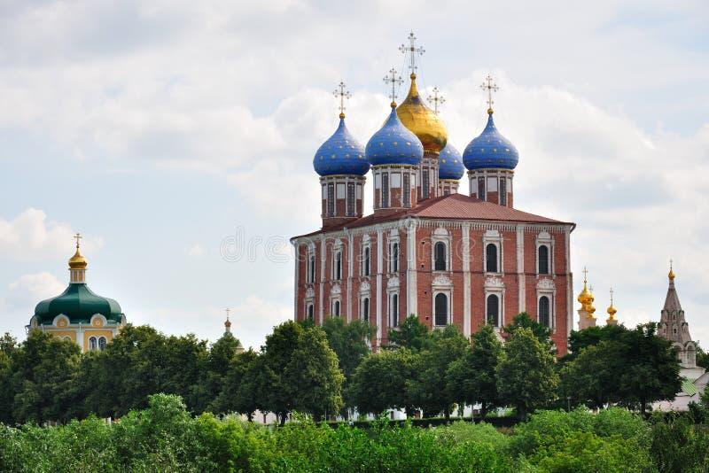 A catedral da suposição, Ryazan Kremlin, Rússia imagem de stock