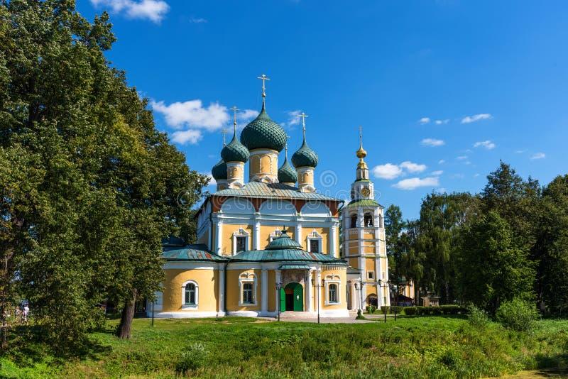 A catedral da transfigura??o do Kremlin em Uglich, R?ssia foto de stock