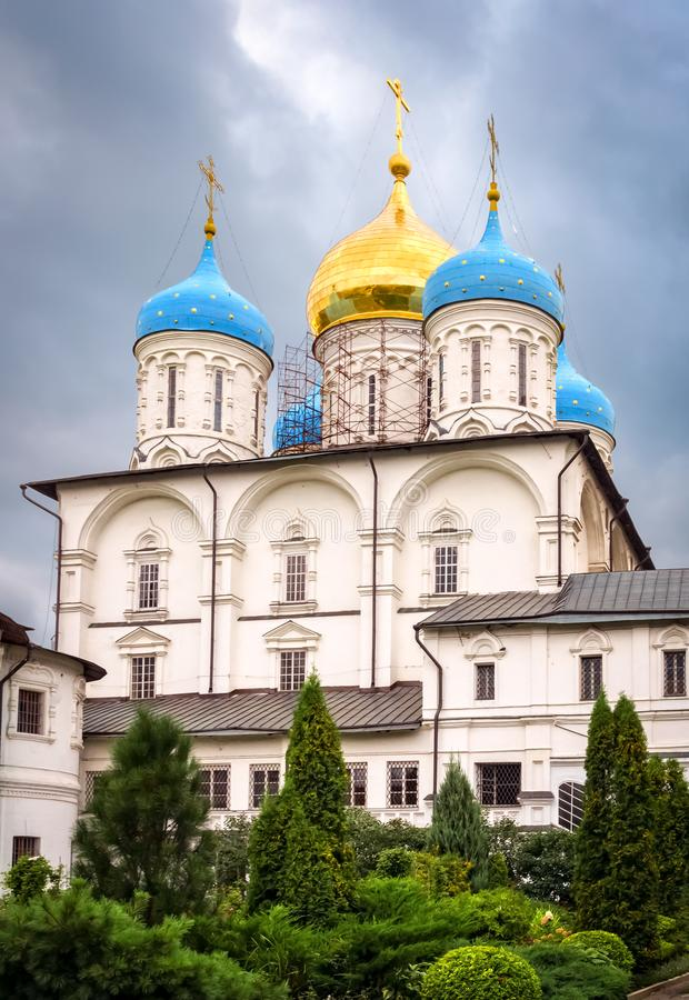 Catedral da transfiguração em Moscou, Rússia imagem de stock