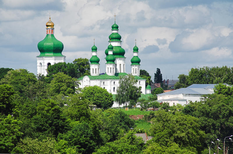 Catedral da trindade em Chernigov imagens de stock