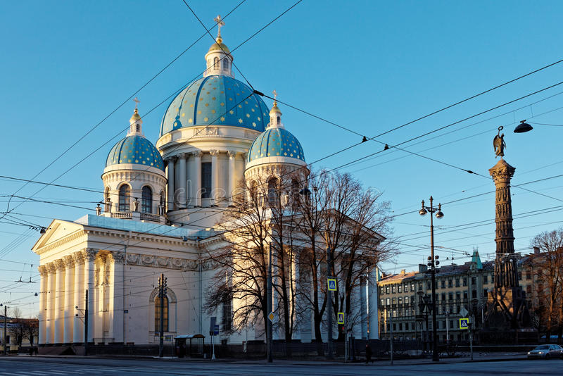 Catedral da trindade em St Petersburg, Rússia imagem de stock