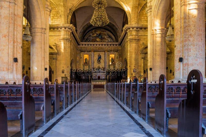 A catedral da Virgem Maria em Havana cuba imagens de stock royalty free