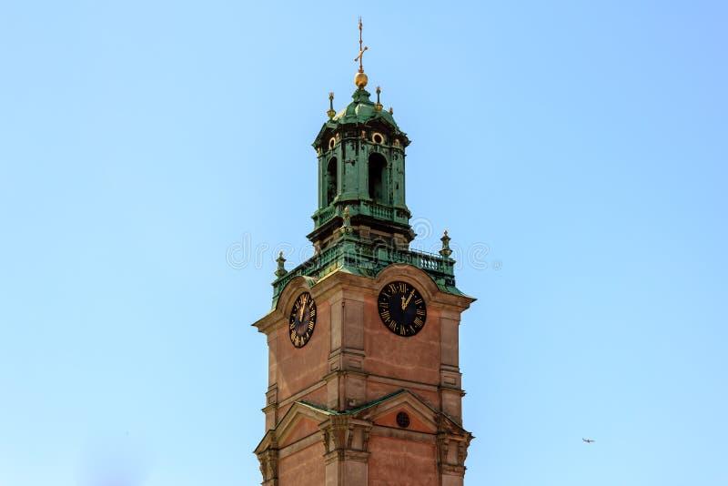 Catedral de Éstocolmo (Storkyrkan) fotos de stock