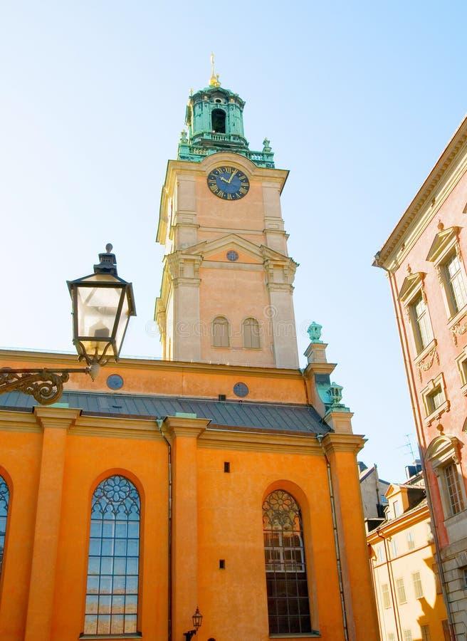 Catedral de Éstocolmo (Storkyrkan) em Gamla Stan (cidade velha) sweden imagem de stock