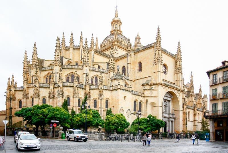 Catedral de Σάντα Μαρία de Segovia στην ιστορική πόλη Segovia, Καστίλλη Υ Leon, Ισπανία στοκ φωτογραφία