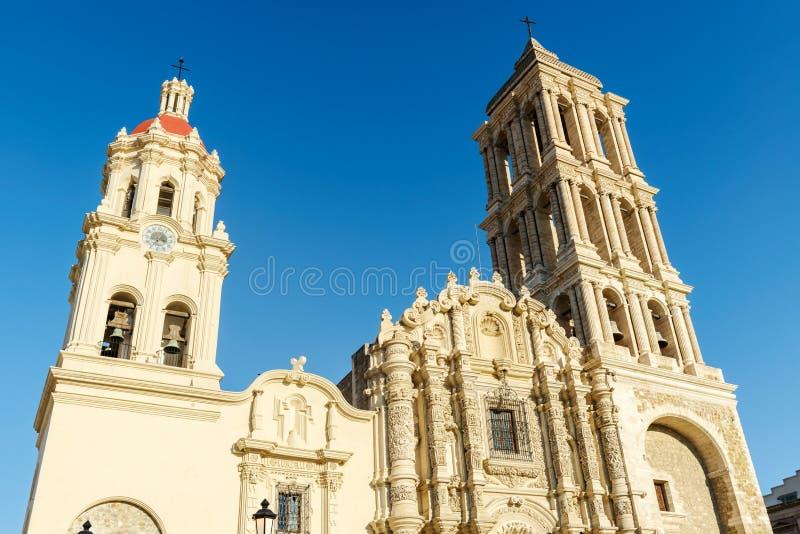 Catedral de Сантьяго в Saltillo, Мексике стоковое фото rf