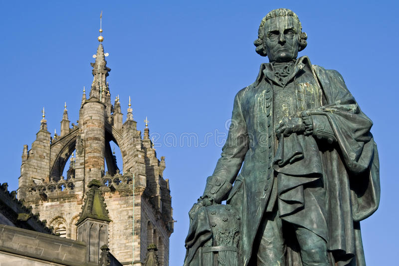 Catedral de Adán Smith, del monumento y del St Giles fotografía de archivo libre de regalías