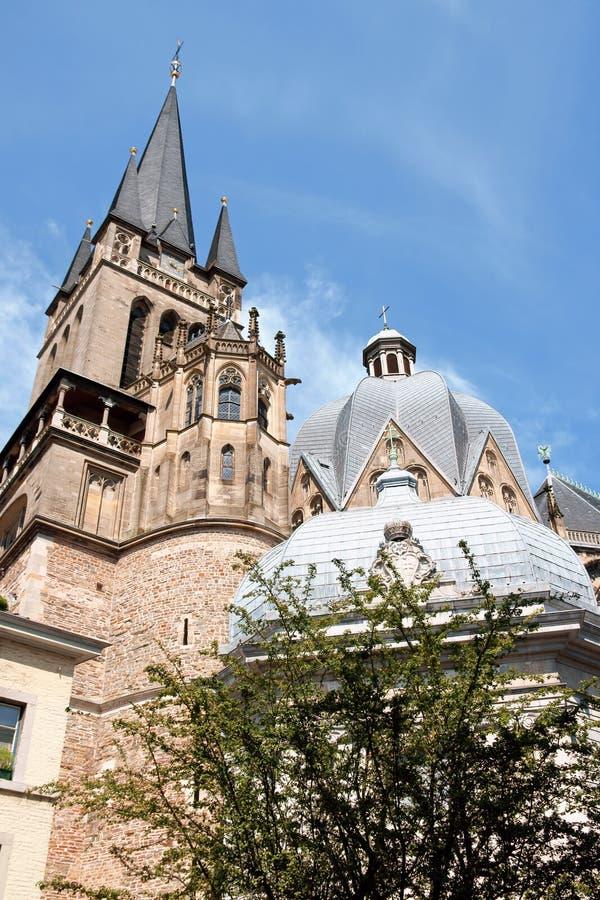 Catedral de Aix-la-Chapelle fotos de stock