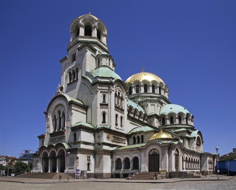 Catedral de Alexander Nevsky en Sofía bulgaria fotografía de archivo