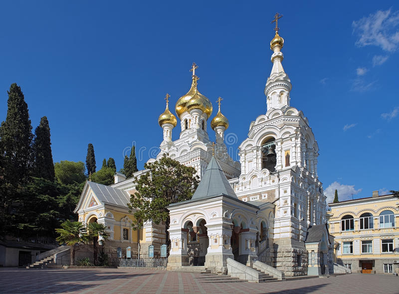 Catedral de Alexander Nevsky en Yalta, Ucrania foto de archivo