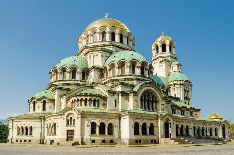 Catedral de Alexander Nevsky, Sófia fotografia de stock