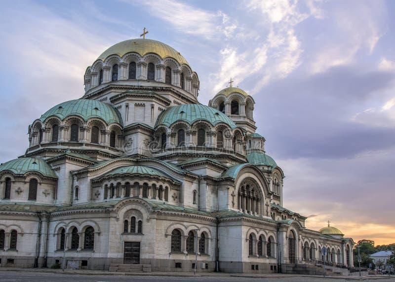 Catedral de Alexander Nevsky, Sof?a, Bulgaria imagen de archivo