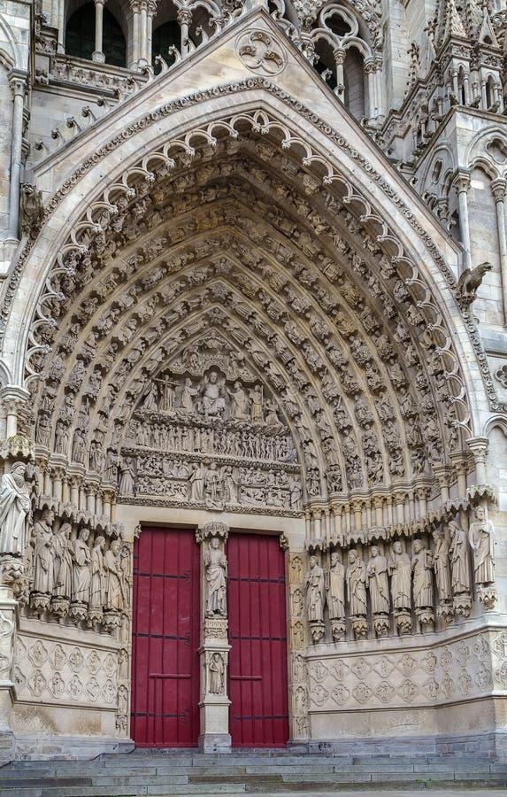Catedral de Amiens, France imagem de stock