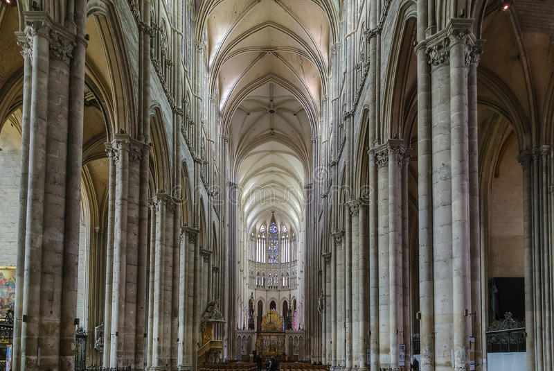 Catedral de Amiens, France imagem de stock royalty free
