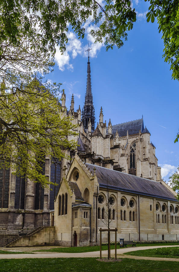 Catedral de Amiens, France imagens de stock