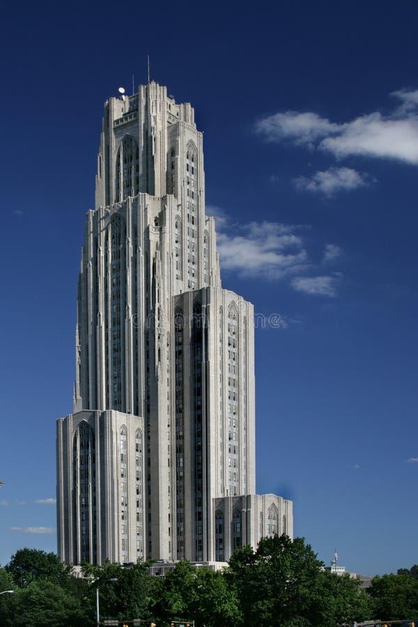 Catedral de aprender a universidade de Pittsburgh fotografia de stock royalty free