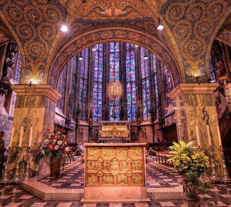 Catedral de Aquisgrán, Alemania fotografía de archivo