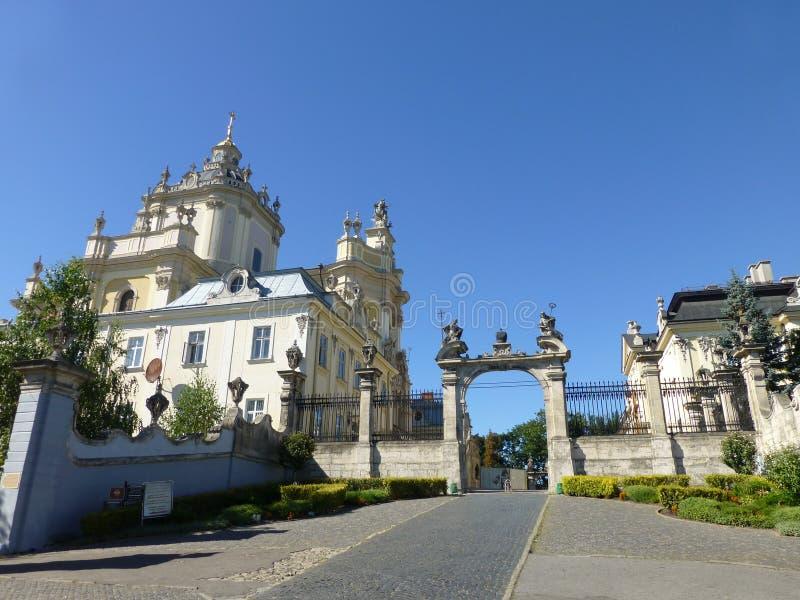 Catedral de Archicatedral de St George em Lviv fotografia de stock royalty free