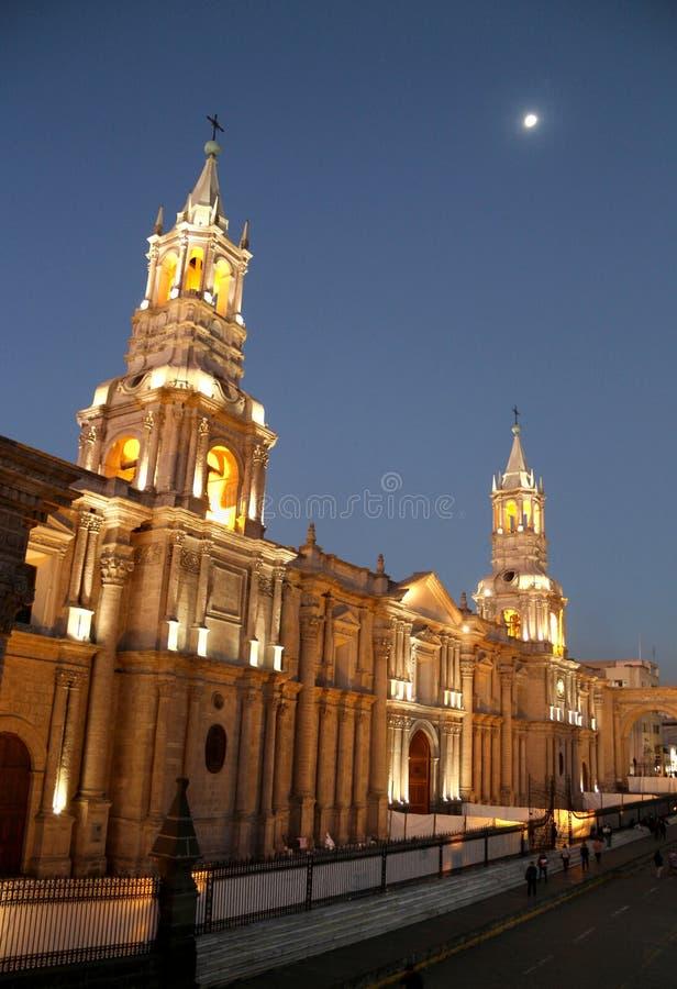 Catedral de Arequipa fotografia de stock