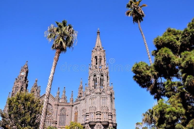 Catedral de Arucas imagenes de archivo