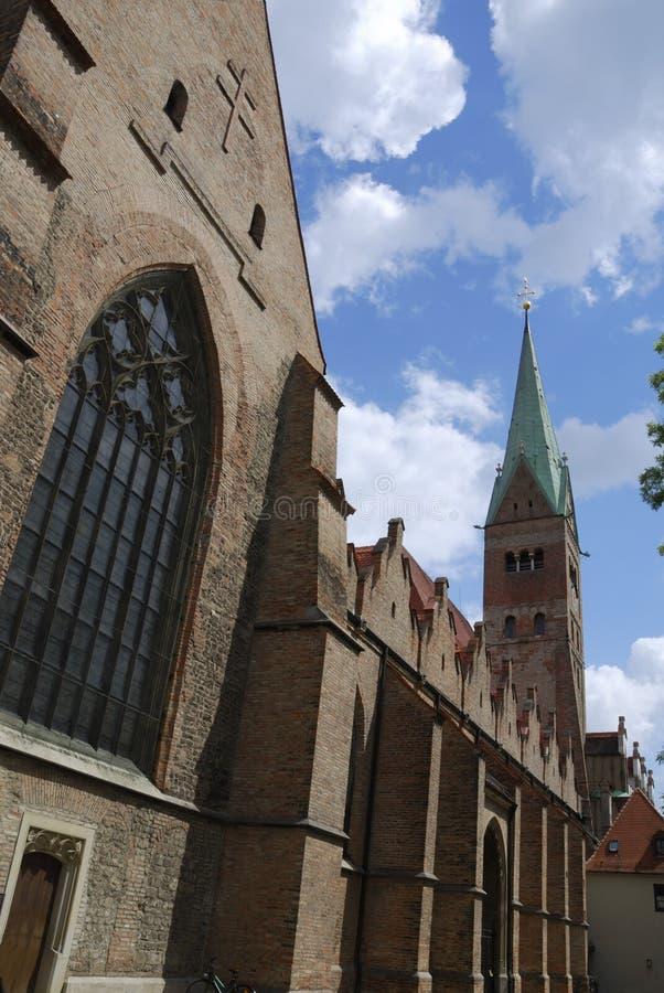 Catedral de Augsburg foto de stock
