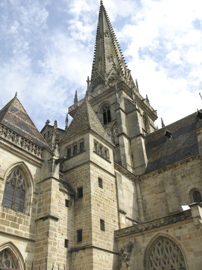 Catedral de Autun foto de stock royalty free