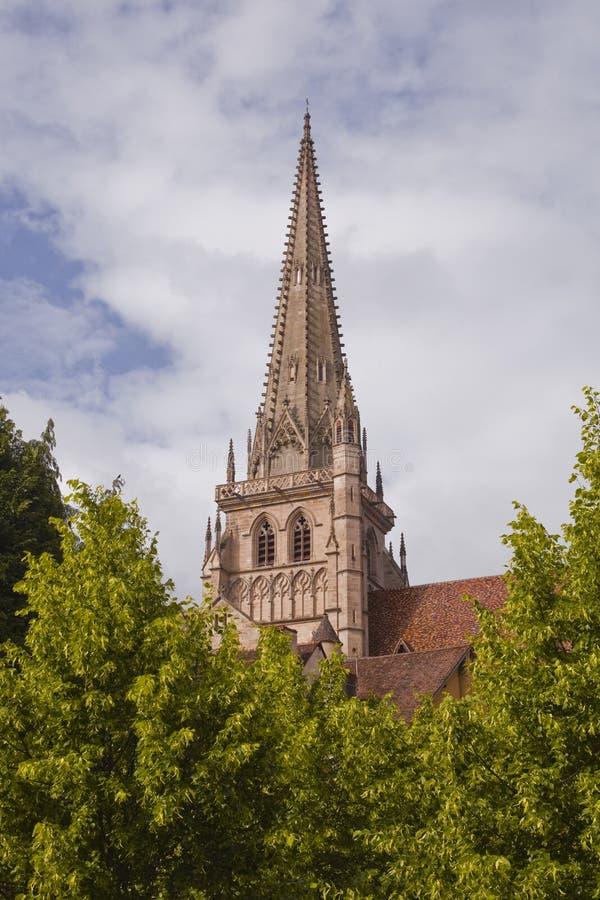 Catedral de Autun fotografía de archivo