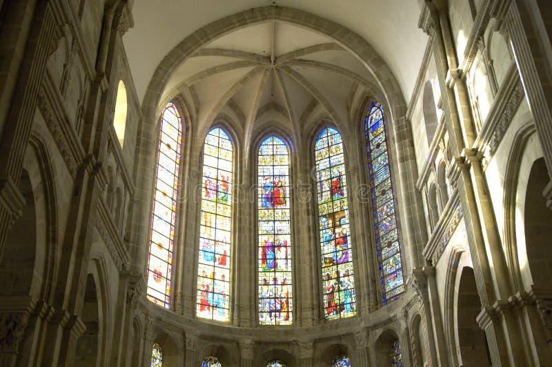 Catedral de Autun fotos de stock royalty free