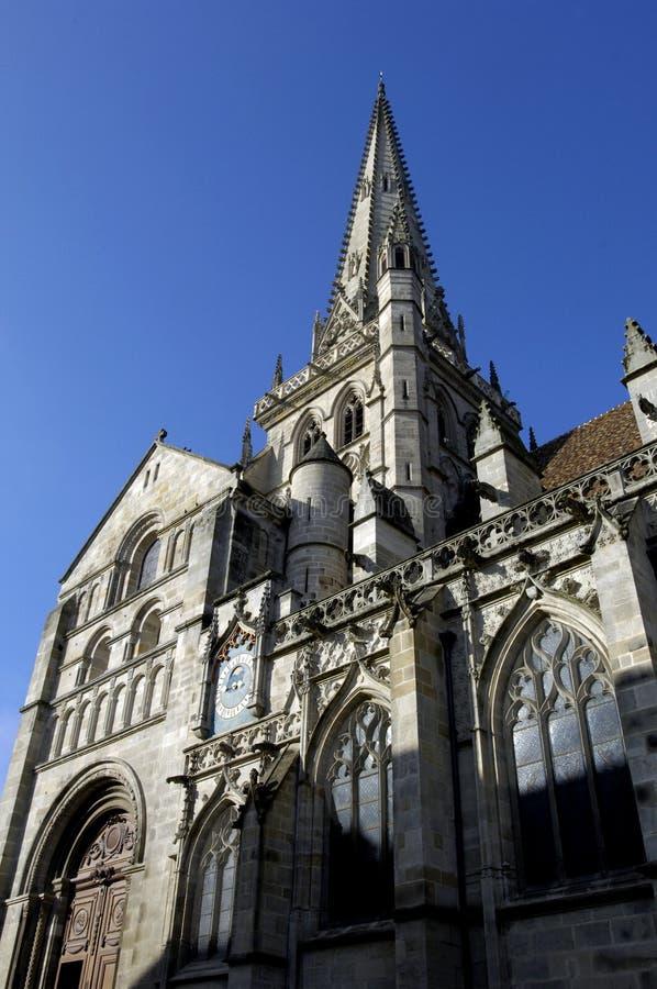Catedral de Autun imagen de archivo libre de regalías