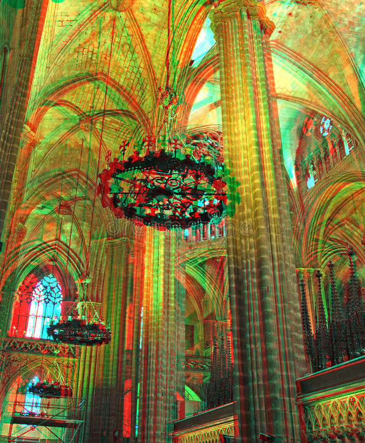 Catedral de Barcelona fotografía de archivo