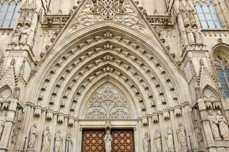 Catedral DE Barcelona stock afbeeldingen