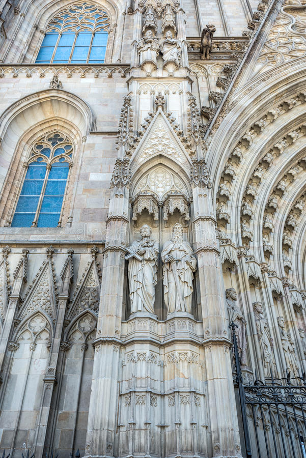 Catedral de Barcelona imagen de archivo